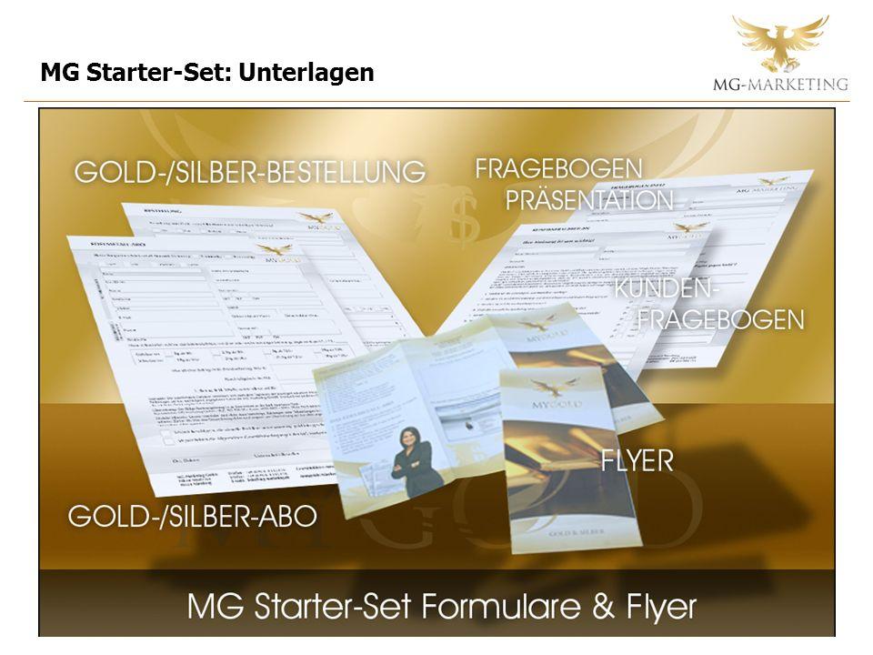 MG Starter-Set: Unterlagen