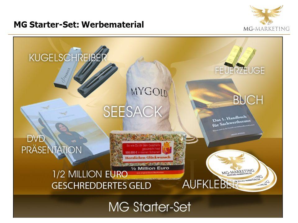 MG Starter-Set: Werbematerial