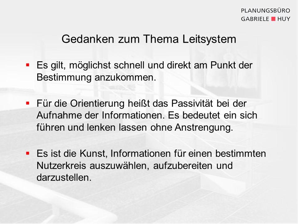 Planung eines neuen Leitsystems am Beispiel des Klinikum Landshut Konzeption 1.