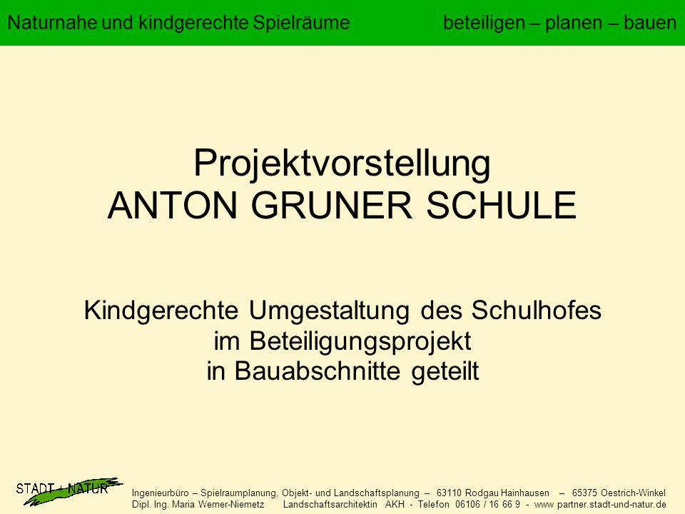 Ingenieurbüro – Spielraumplanung, Objekt- und Landschaftsplanung – 63110 Rodgau Hainhausen – 65375 Oestrich-Winkel Dipl.