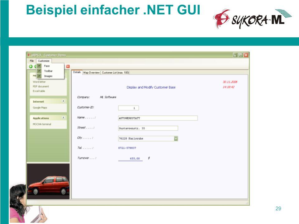 29 Beispiel einfacher.NET GUI