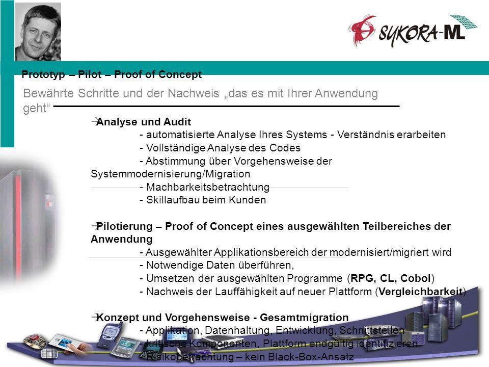 Analyse und Audit - automatisierte Analyse Ihres Systems - Verständnis erarbeiten - Vollständige Analyse des Codes - Abstimmung über Vorgehensweise de