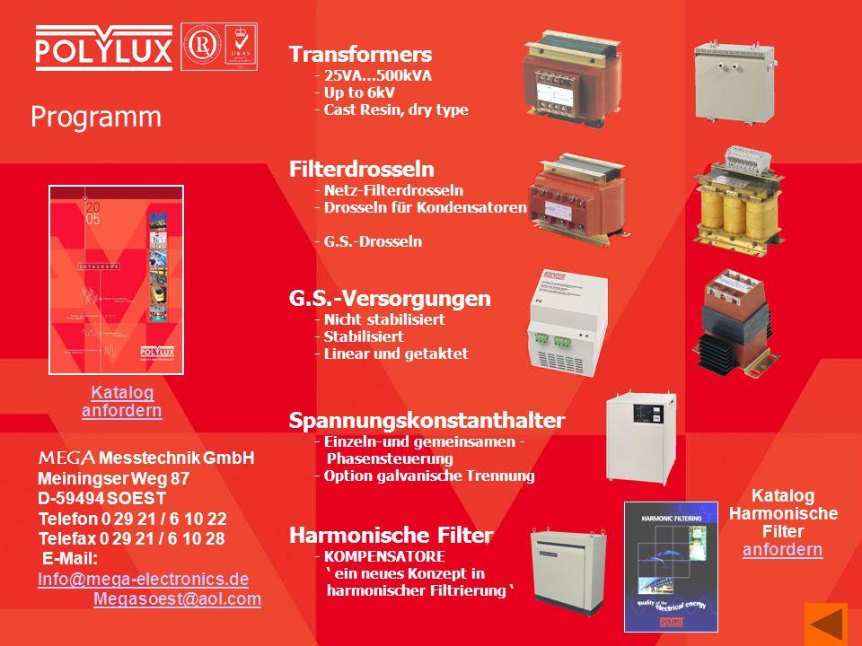MEGA Messtechnik GmbH Meiningser Weg 87 D-59494 SOEST Telefon 0 29 21 / 6 10 22 Telefax 0 29 21 / 6 10 28 E-Mail: Info@mega-electronics.de Megasoest@a