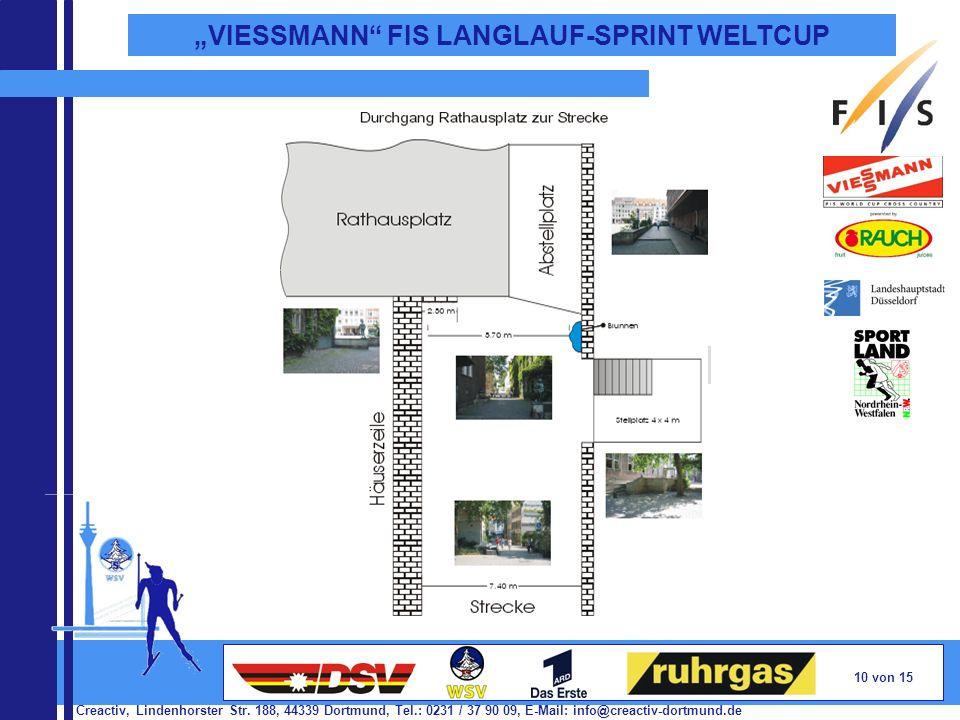 Creactiv, Lindenhorster Str. 188, 44339 Dortmund, Tel.: 0231 / 37 90 09, E-Mail: info@creactiv-dortmund.de 10 von 15 VIESSMANN FIS LANGLAUF-SPRINT WEL