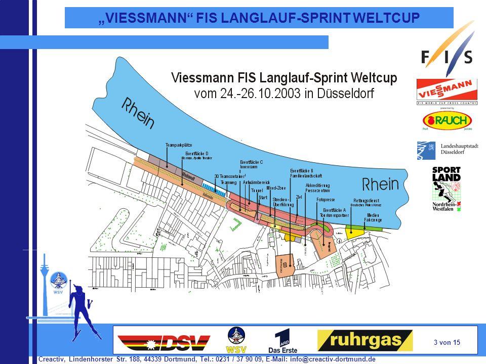 Creactiv, Lindenhorster Str. 188, 44339 Dortmund, Tel.: 0231 / 37 90 09, E-Mail: info@creactiv-dortmund.de 3 von 15 VIESSMANN FIS LANGLAUF-SPRINT WELT