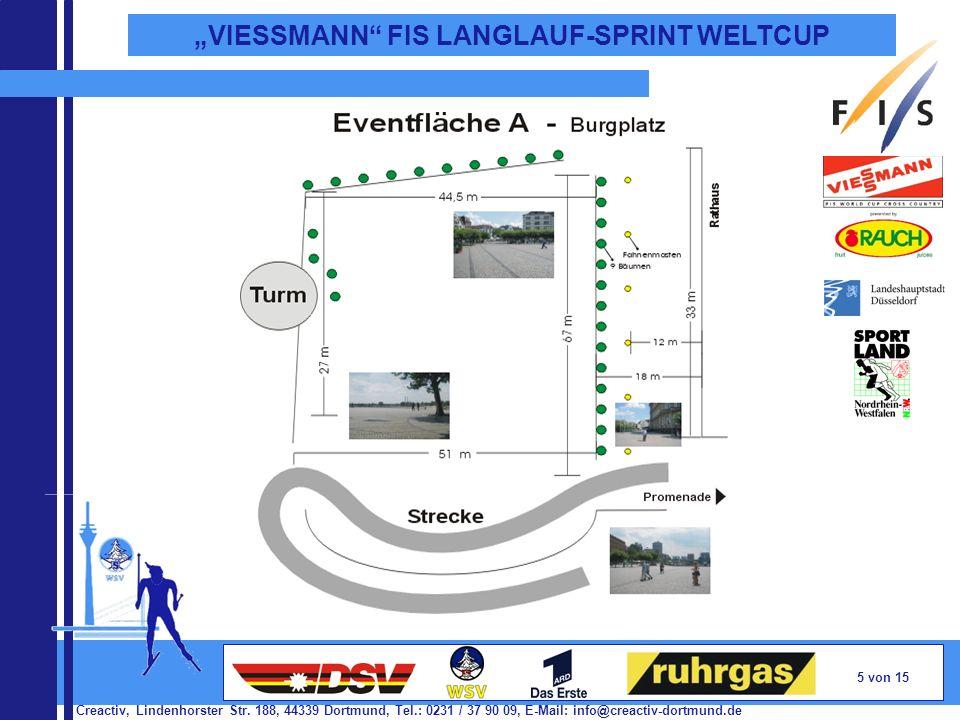 Creactiv, Lindenhorster Str. 188, 44339 Dortmund, Tel.: 0231 / 37 90 09, E-Mail: info@creactiv-dortmund.de 5 von 15 VIESSMANN FIS LANGLAUF-SPRINT WELT