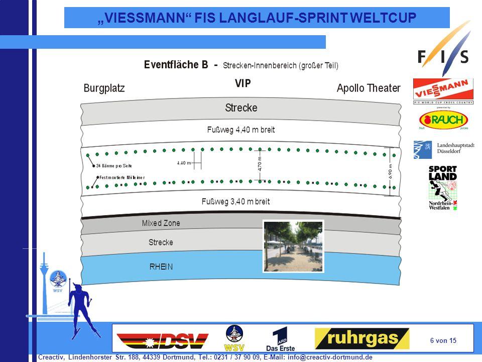 Creactiv, Lindenhorster Str. 188, 44339 Dortmund, Tel.: 0231 / 37 90 09, E-Mail: info@creactiv-dortmund.de 6 von 15 VIESSMANN FIS LANGLAUF-SPRINT WELT
