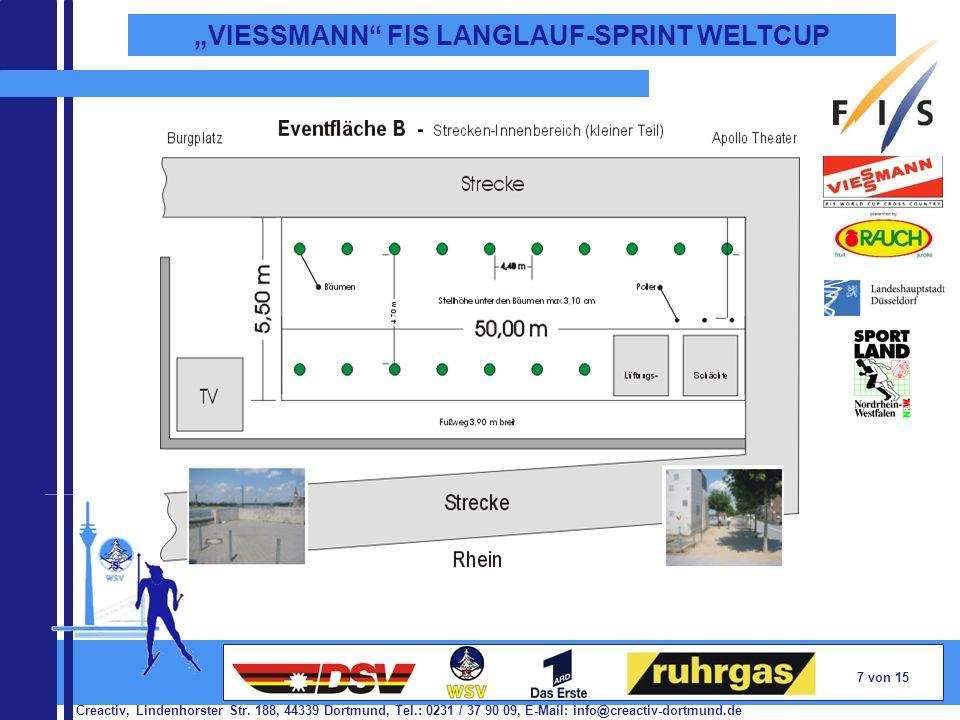 Creactiv, Lindenhorster Str. 188, 44339 Dortmund, Tel.: 0231 / 37 90 09, E-Mail: info@creactiv-dortmund.de 7 von 15 VIESSMANN FIS LANGLAUF-SPRINT WELT