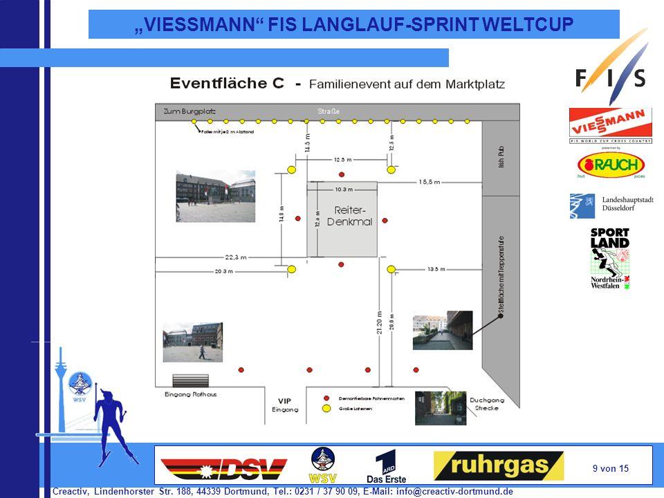 Creactiv, Lindenhorster Str. 188, 44339 Dortmund, Tel.: 0231 / 37 90 09, E-Mail: info@creactiv-dortmund.de 9 von 15 VIESSMANN FIS LANGLAUF-SPRINT WELT