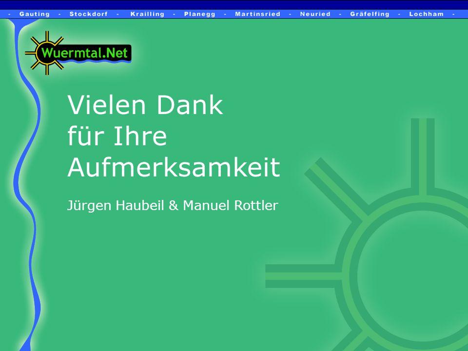 Vielen Dank für Ihre Aufmerksamkeit Jürgen Haubeil & Manuel Rottler