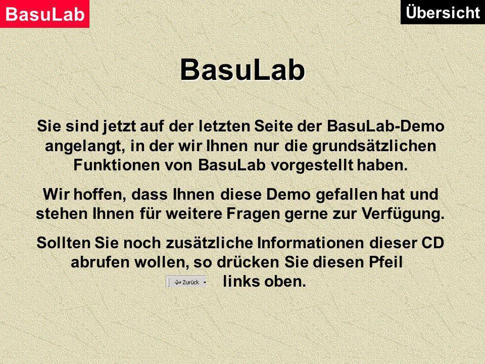 BasuLab ÜbersichtZusammenfassung BasuLab ist ein hoch flexibles Labordatensystem. Das betrifft sowohl den Arbeitsablauf als auch das Layout der einzel