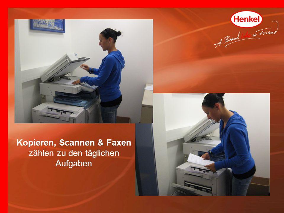 Kopieren, Scannen & Faxen zählen zu den täglichen Aufgaben