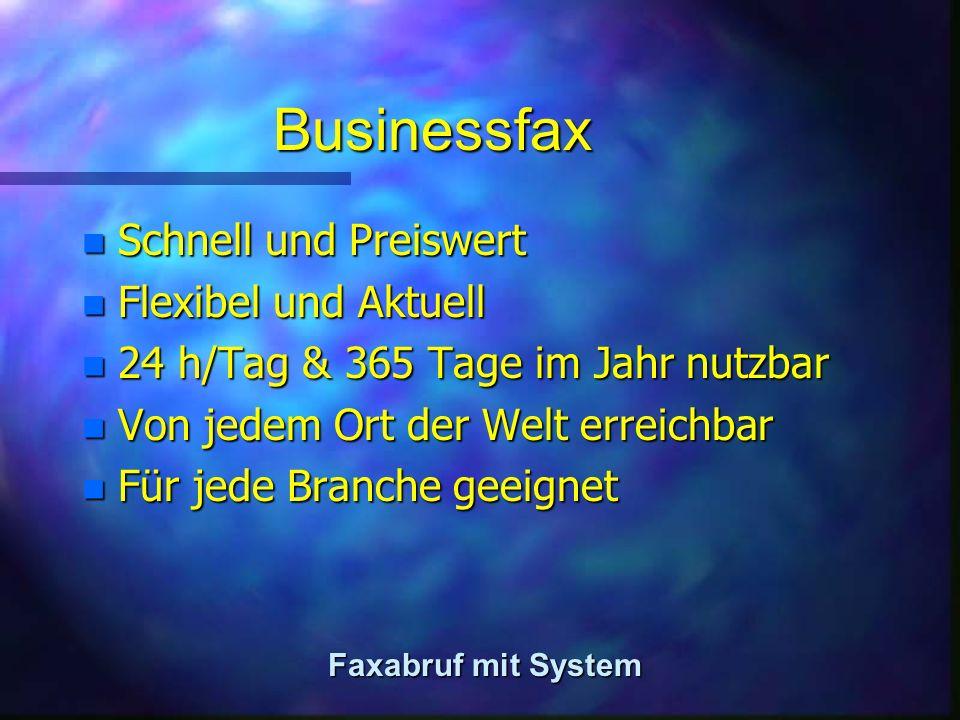 Faxabruf - habe ich Bedarf.