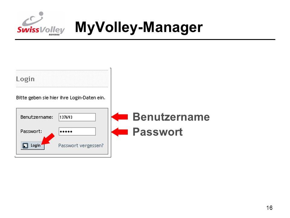 16 MyVolley-Manager Benutzername Passwort