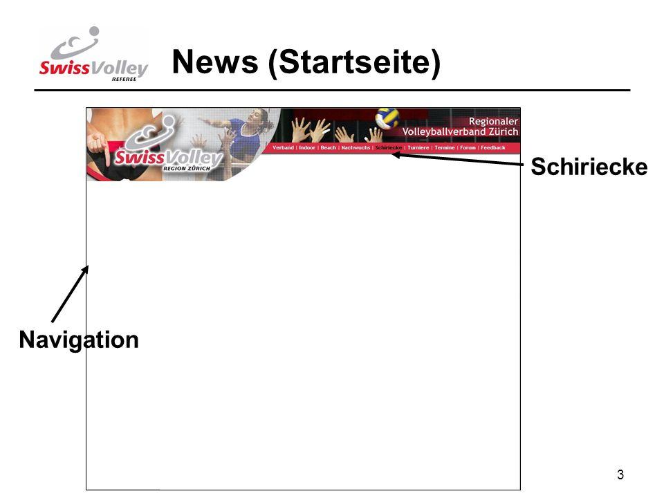 3 Schiriecke News (Startseite) Navigation