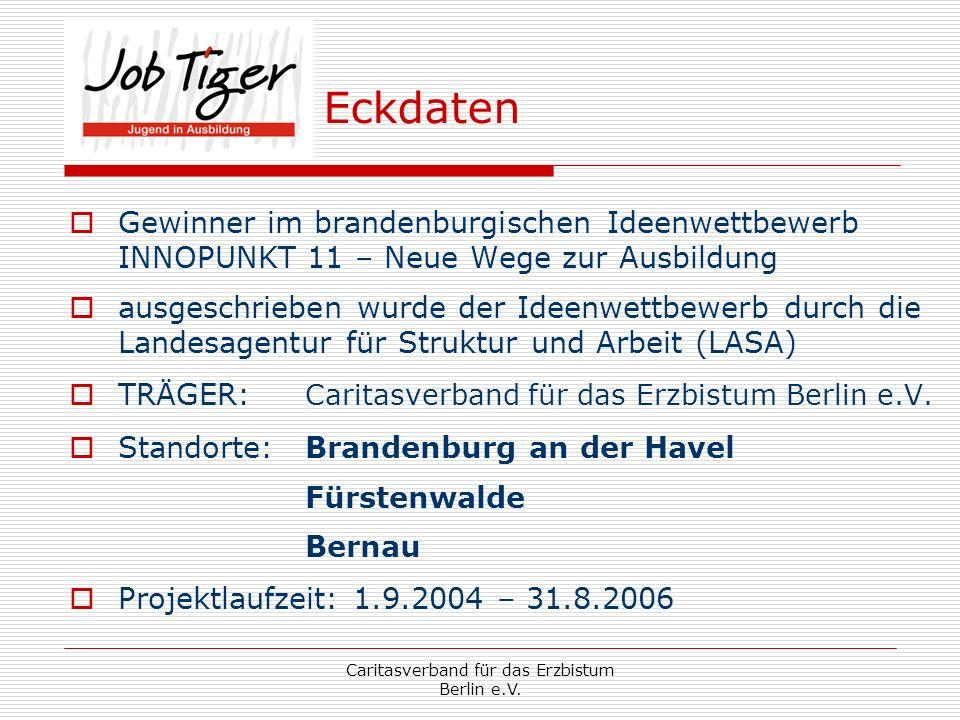 Caritasverband für das Erzbistum Berlin e.V.Projektaufbau Projektleitung Brandenburg a.d.H.