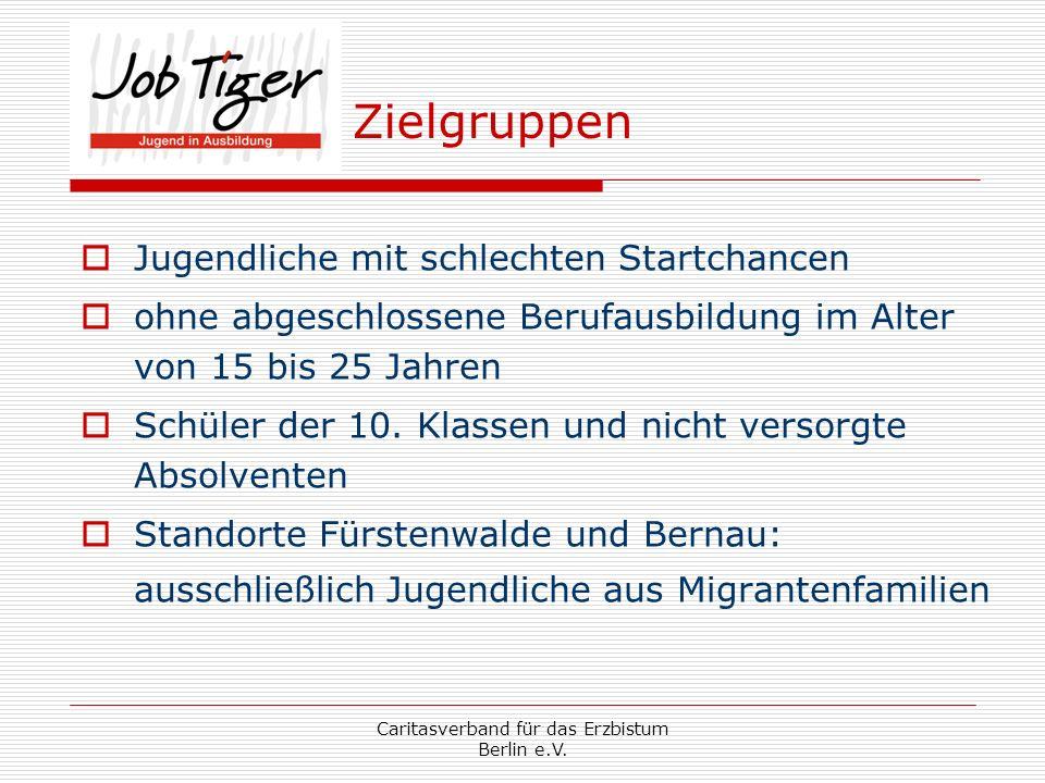 Caritasverband für das Erzbistum Berlin e.V. Unterstützt durch: