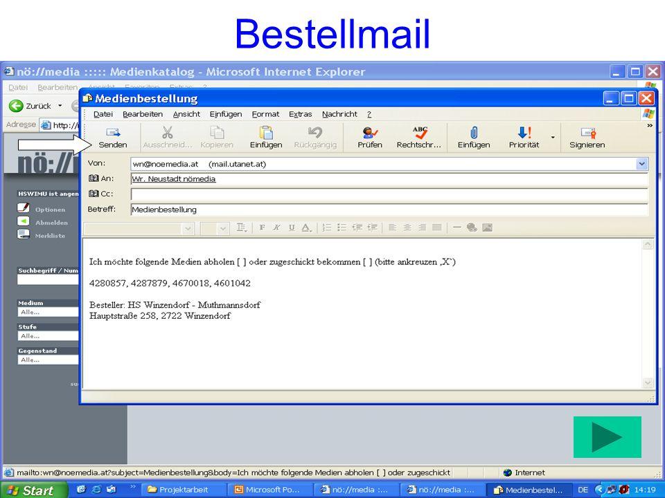 Bestellmail