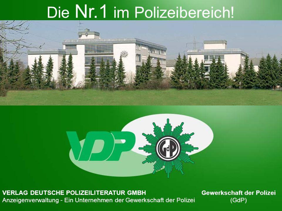 VERLAG DEUTSCHE POLIZEILITERATUR GMBH Anzeigenverwaltung Ein Unternehmen der Gewerkschaft der Polizei Forststraße 3a, 40721 Hilden Telefon: 0211 / 7104-0 Telefax: 0211 / 7104-174 Die Gewerkschaft der Polizei (GdP) ist die führende Berufsvertretung der Polizeibeamt(inn)en / -angestellten in Deutschland.