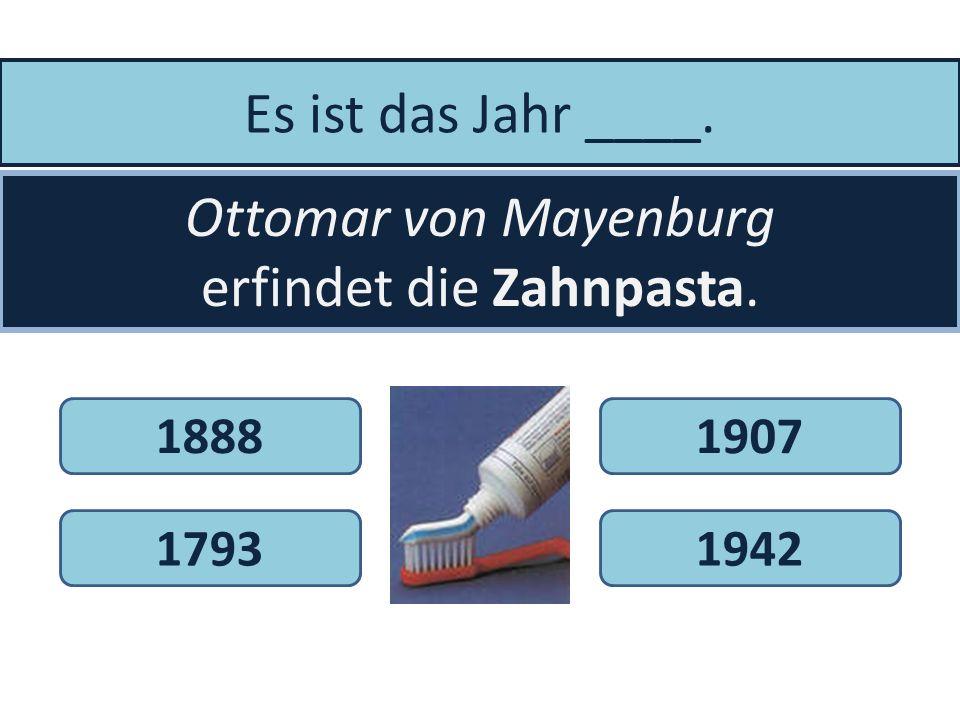 Es ist das Jahr 1859. Philipp Reis erfindet das _____________. TelefonSparschweinSchaukelpferd