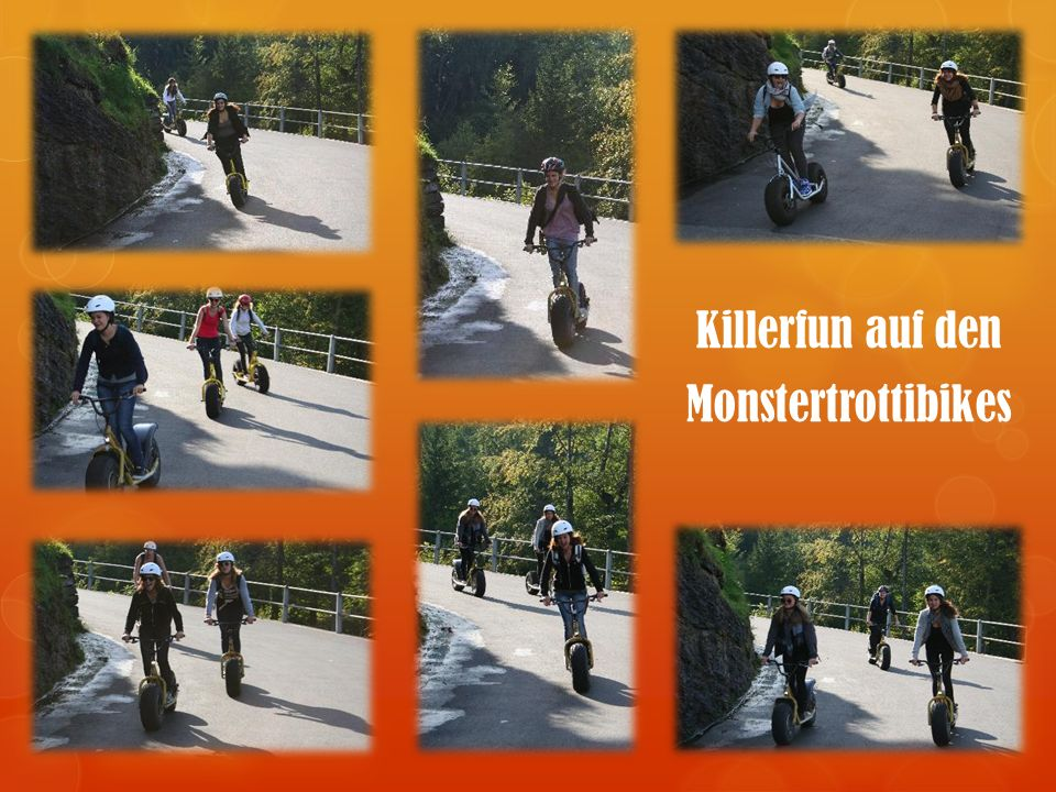 Killerfun auf den Monstertrottibikes