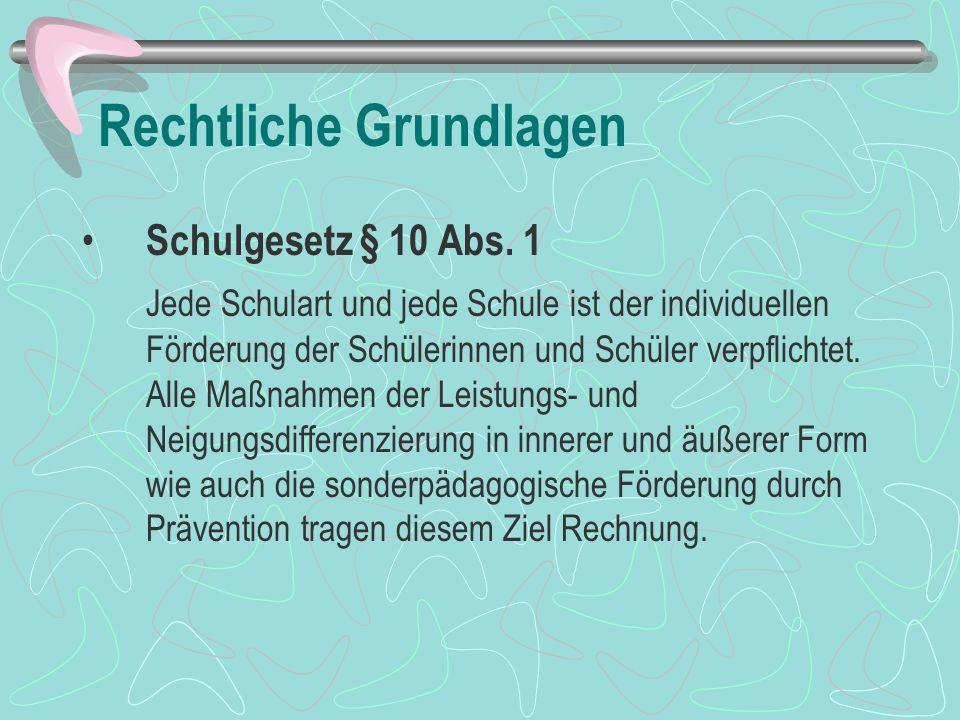Rechtliche Grundlagen Schulordnung § 28 Abs.