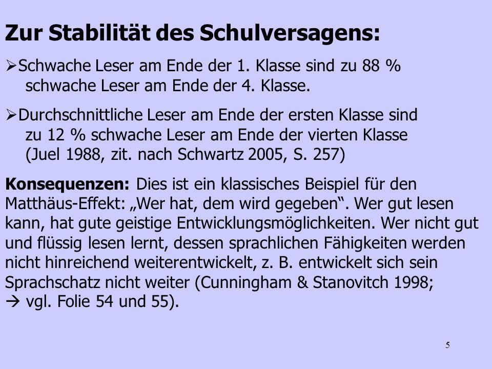 26 1)Phonologisches Rekodieren - Iversen & Tunmer 1993: Umgang mit Phonogrammen - Bhattacharya & Ehri 2004: Übungen zum Silbensegmentieren vs.