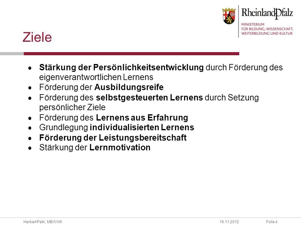 Folie 5Herbert Petri, MBWWK19.11.2012 Wirkung auf Schülerinnen und Schüler i.A.