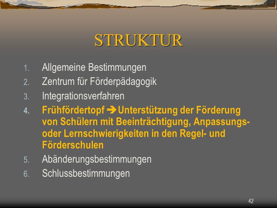 42 1.Allgemeine Bestimmungen 2. Zentrum für Förderpädagogik 3.