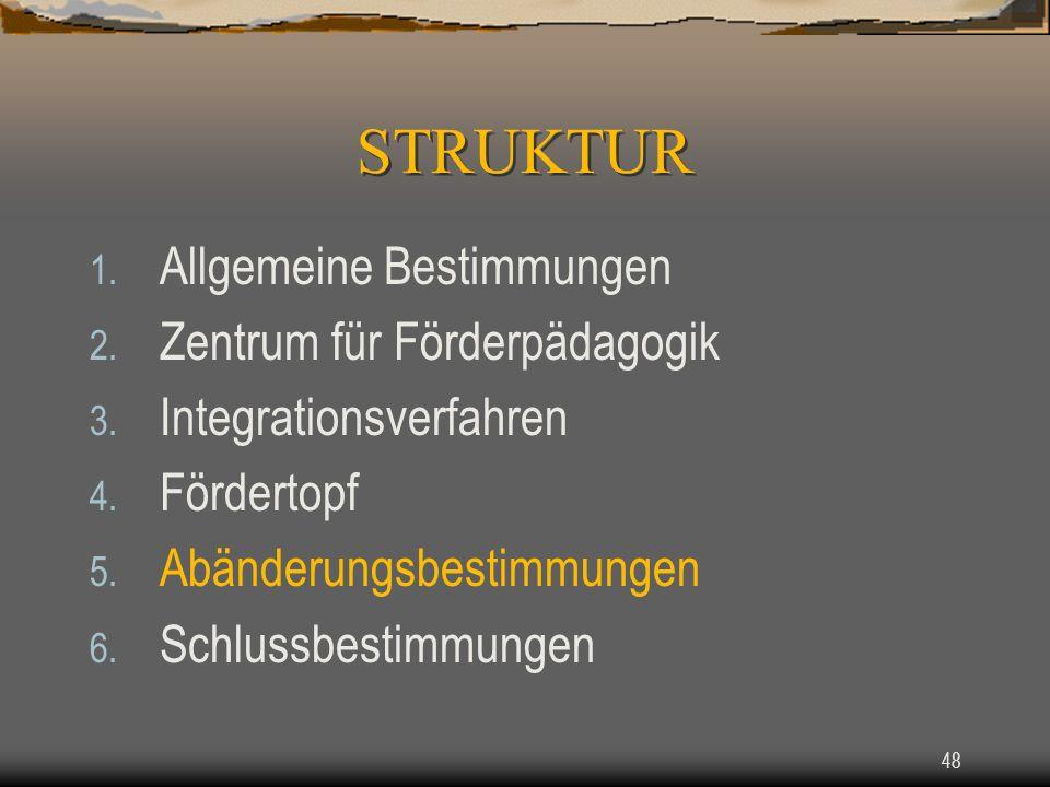 48 1.Allgemeine Bestimmungen 2. Zentrum für Förderpädagogik 3.
