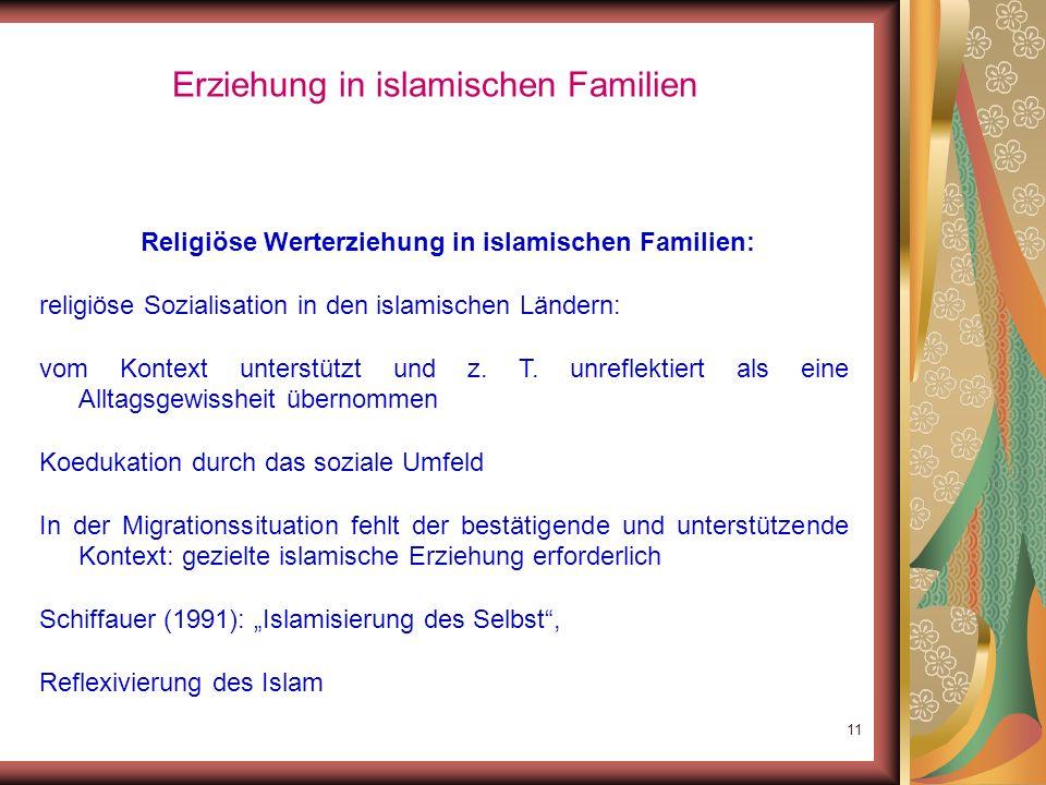 10 Sackmann: Türkische Muslime in Deutschland – Zur Bedeutung der Religion 1/3der befragten Muslime: Keine Religionsbindung; Religion kein Integration