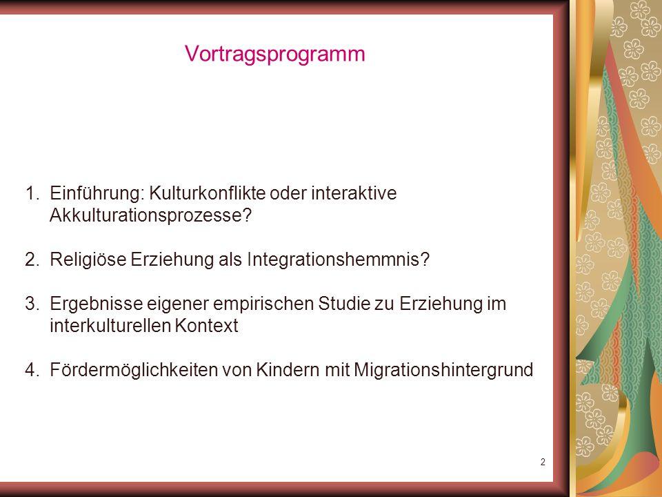 1 Erziehung in islamischen Familien Werteauffassungen im interkulturellen Vergleich PD Dr. Haci-Halil Uslucan Universität Potsdam; Institut für Psycho