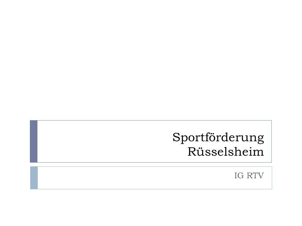 Sportförderung Rüsselsheim IG RTV