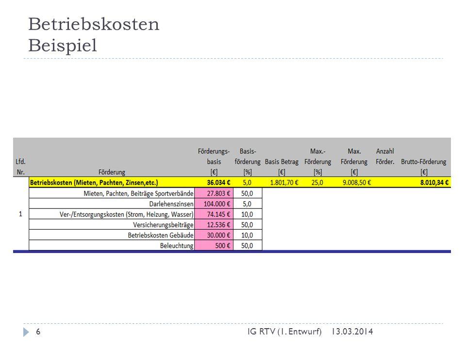 Betriebskosten Beispiel 13.03.2014IG RTV (1. Entwurf)6