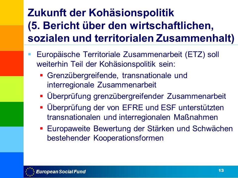 European Social Fund Zukunft der Kohäsionspolitik (5.