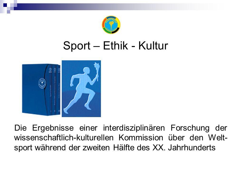 Die Ergebnisse einer interdisziplinären Forschung der wissenschaftlich-kulturellen Kommission über den Welt- sport während der zweiten Hälfte des XX.