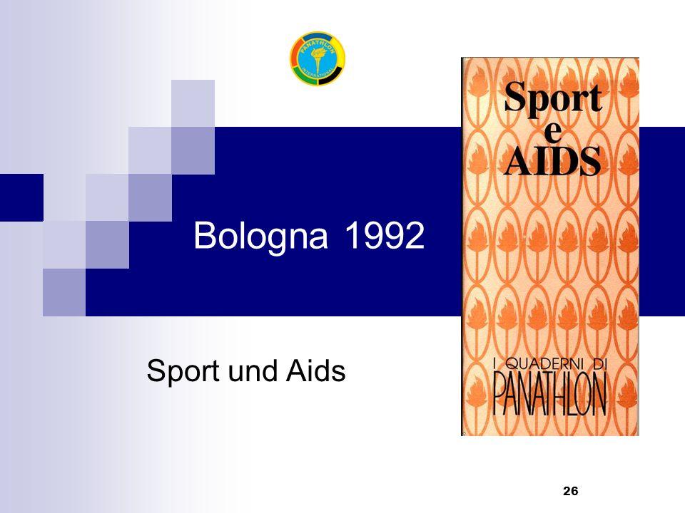 26 Bologna 1992 Sport und Aids