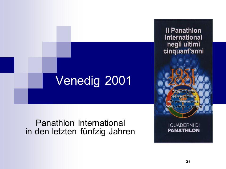 31 Venedig 2001 Panathlon International in den letzten fünfzig Jahren