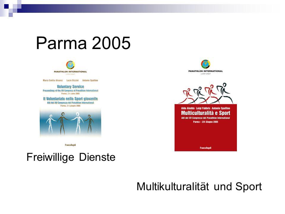 Parma 2005 Freiwillige Dienste Multikulturalität und Sport