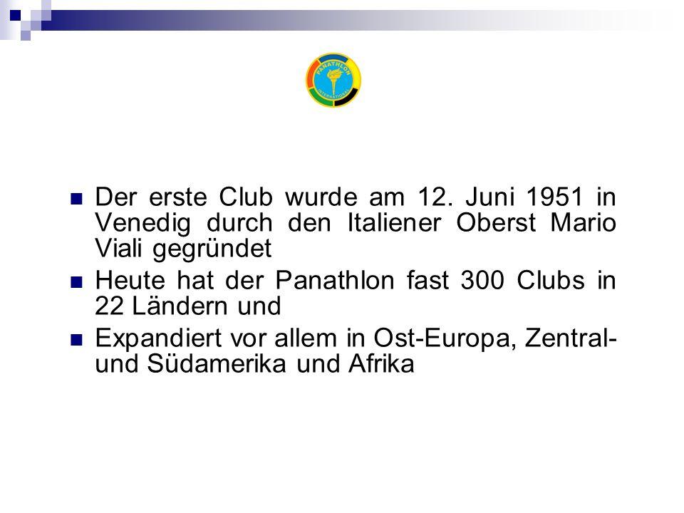 Der erste Club wurde am 12.
