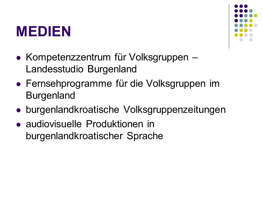 MEDIEN Kompetenzzentrum für Volksgruppen – Landesstudio Burgenland Fernsehprogramme für die Volksgruppen im Burgenland burgenlandkroatische Volksgrupp