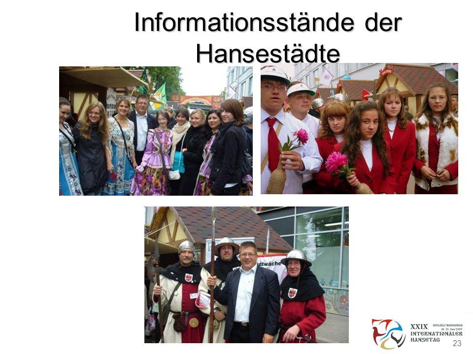 Informationsstände der Hansestädte 23