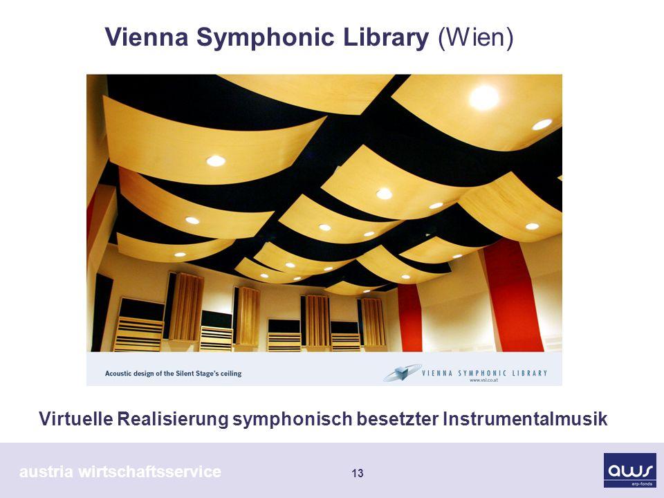 austria wirtschaftsservice 13 Virtuelle Realisierung symphonisch besetzter Instrumentalmusik Vienna Symphonic Library (Wien)