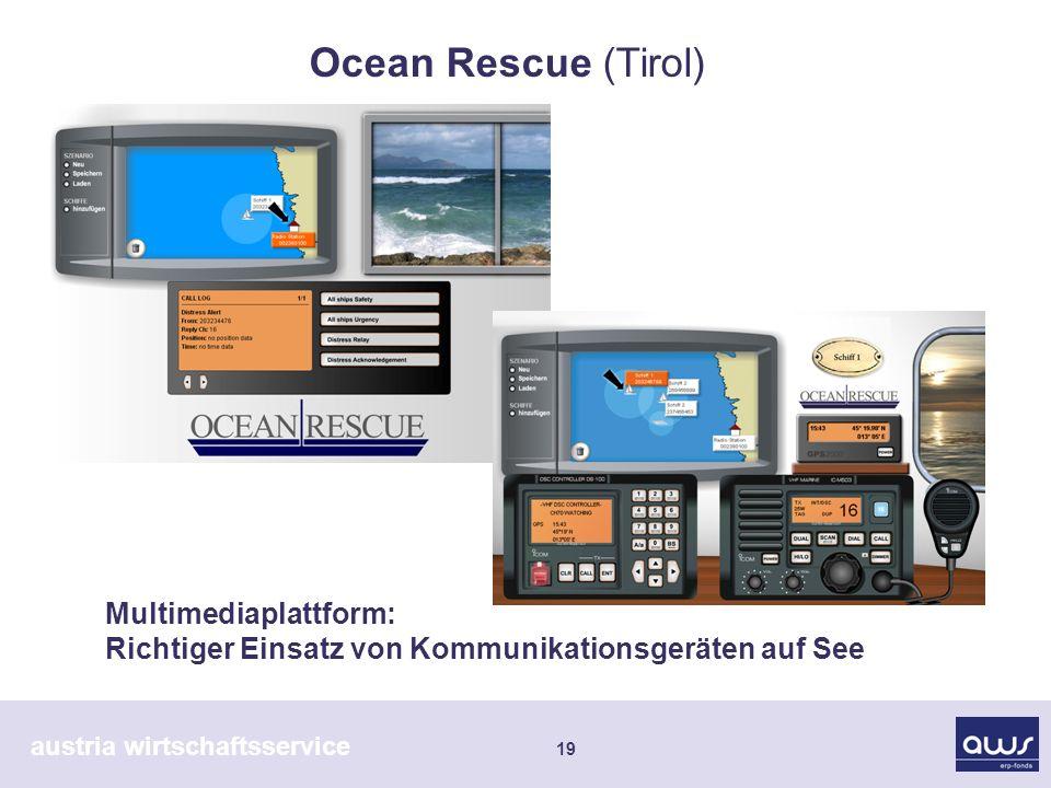 austria wirtschaftsservice 19 Multimediaplattform: Richtiger Einsatz von Kommunikationsgeräten auf See Ocean Rescue (Tirol)