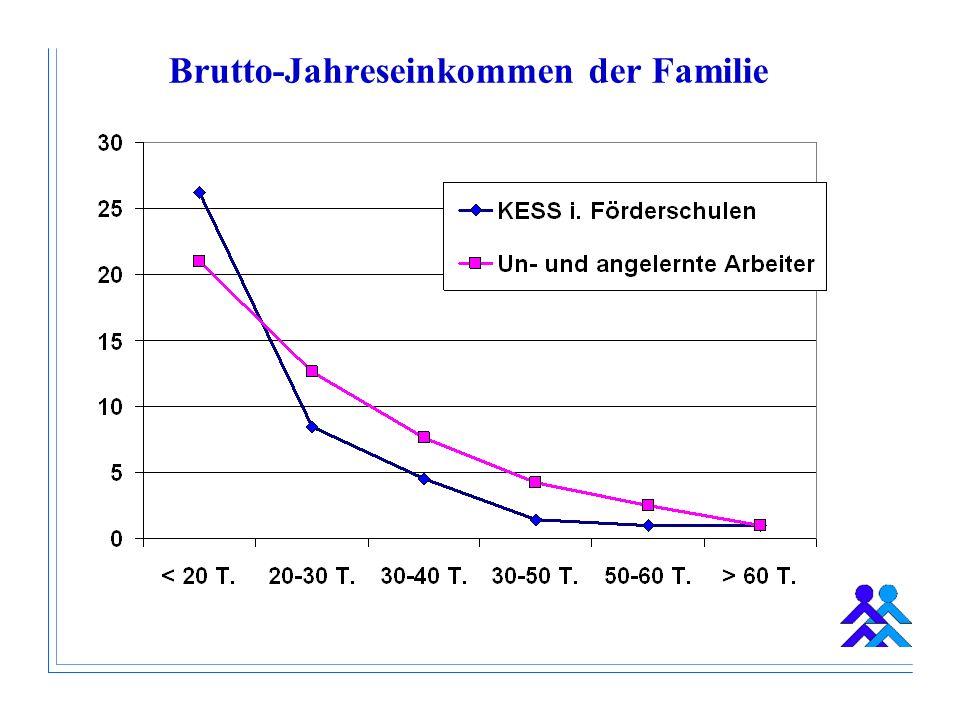 Brutto-Jahreseinkommen der Familie