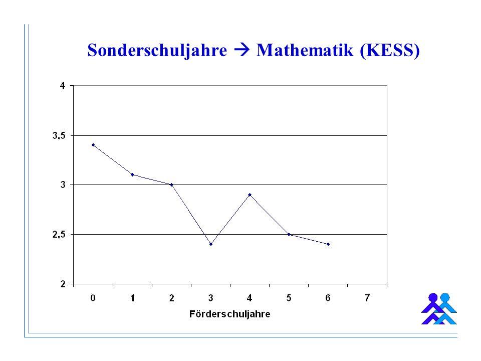 Sonderschuljahre Mathematik (KESS)
