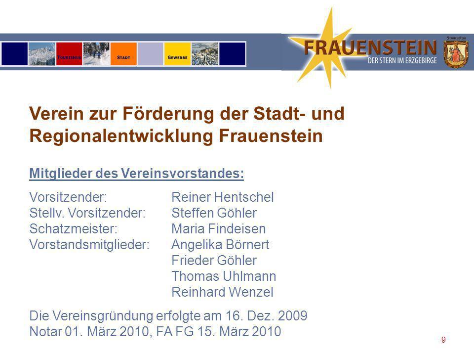 10 Verein zur Förderung der Stadt- und Regionalentwicklung Frauenstein Veranstaltung in der Stadtkirche zu Frauenstein am 09.