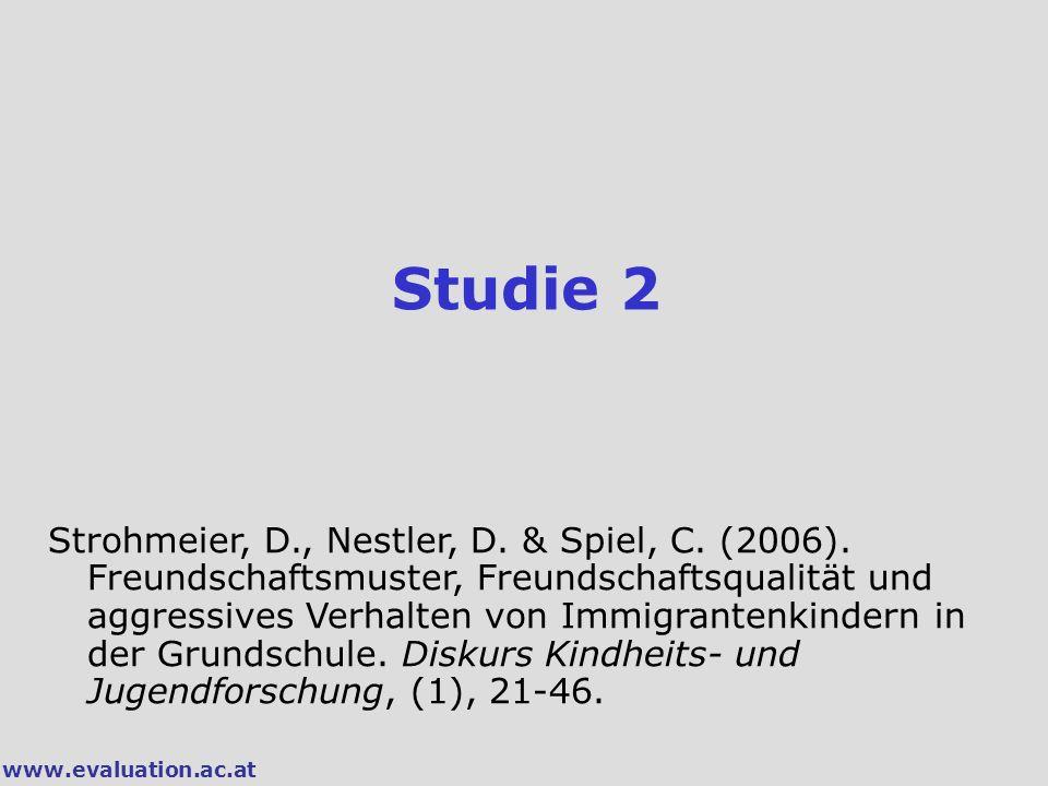www.evaluation.ac.at Studie 2 Strohmeier, D., Nestler, D.