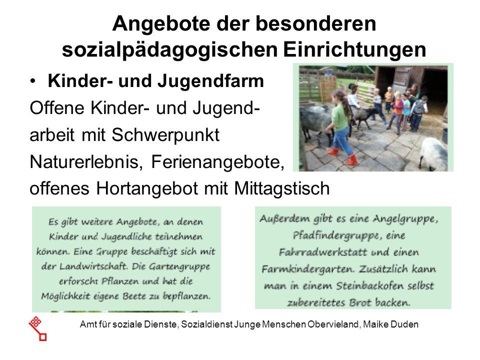 Amt für soziale Dienste, Sozialdienst Junge Menschen Obervieland, Maike Duden Kinder- und Jugendfarm Offene Kinder- und Jugend- arbeit mit Schwerpunkt
