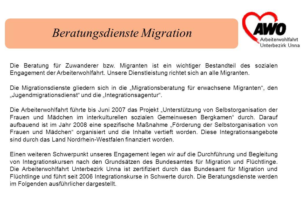 Die Beratung für Zuwanderer bzw. Migranten ist ein wichtiger Bestandteil des sozialen Engagement der Arbeiterwohlfahrt. Unsere Dienstleistung richtet